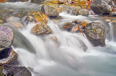Photograph - Swirling Waters Ribbon Creek Yosemite National Park by Steven Barrows
