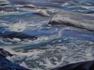 Painting - Swirling Waters by Sheila Holland