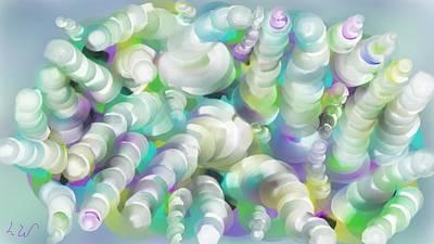 Swirls N Curls Art Print