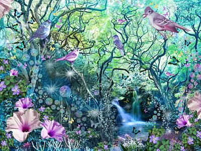 Swirly Tree Garden Art Print