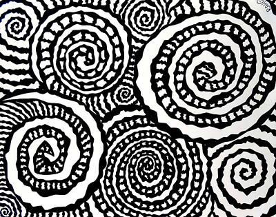 Swirly Drawing - Swirly Twirly 2 by Ryan Ashley Hornbuckle