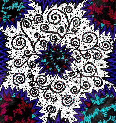 Swirly Drawing - Swirly Twirly by Ryan Ashley Hornbuckle