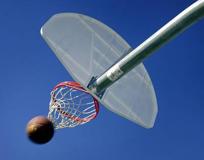 Basket Ball Game Photograph - Swish  by David and Carol Kelly