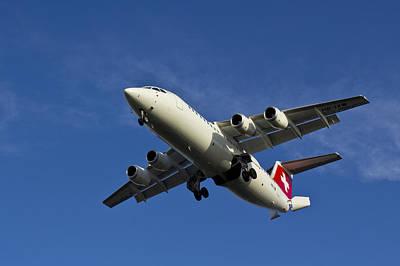 Swiss Air Bae 146 Art Print