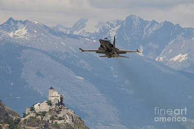 Animals Photos - Swiss Air Force F-5e Tigers Above Sion by Timm Ziegenthaler