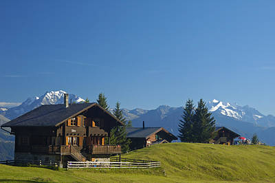 Photograph - Swiss Alps - Beautiful Chalets by Matthias Hauser