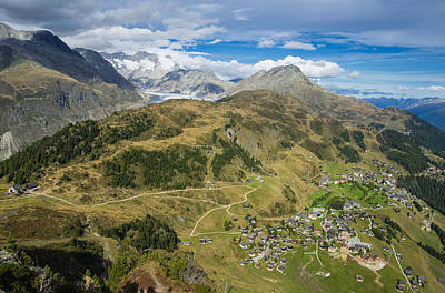 Photograph - Swiss Alps Great View Towards Riederalp Aletsch Forest And Aletsch Glacier by Matthias Hauser