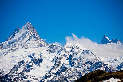 Photograph - Swiss Alps - Schreckhorn  by Anthony Doudt