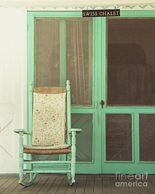 Rocking Chairs Photograph - Swiss Chalet by Jillian Audrey Photography