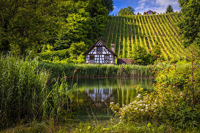 Photograph - Swiss Cottage At The Vineyard by Debra and Dave Vanderlaan