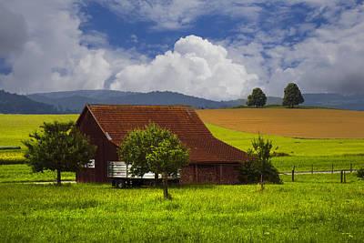 Floral Scene Garden Photograph - Swiss Farms by Debra and Dave Vanderlaan