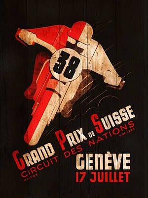 Geneva Photograph - Swiss Grand Prix 1938 by Mark Rogan