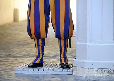 Part Of Photograph - Swiss Guards. Vatican by Bernard Jaubert