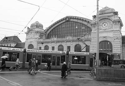 Photograph - Swiss Railway Station by Miguel Winterpacht