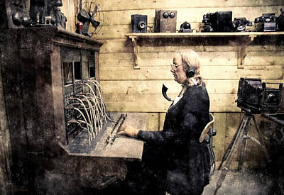 Photograph - Switchboard Lady by Barbara D Richards