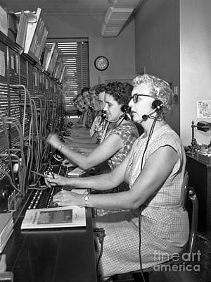 Photograph - Switchboard Operators by Merle Junk