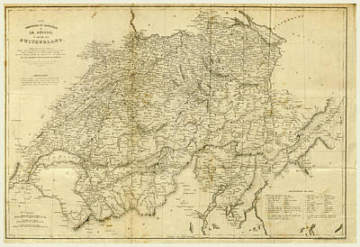 Switzerland Drawing - Switzerland And The Alps by Litz Collection