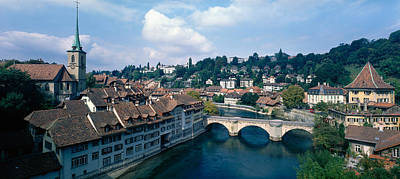 Switzerland Photograph - Switzerland, Bern, Aare River by Panoramic Images