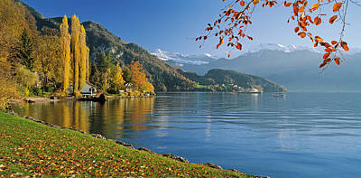 Lucerne Photograph - Switzerland, Canton Lucerne, Lake by Panoramic Images