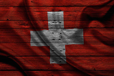 Flag Photograph - Switzerland by Joe Hamilton