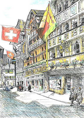 Switzerland Art Print by Lisa Pastille