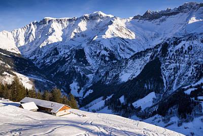 Photograph - Switzerland Mountain Landscape In Winter by Matthias Hauser