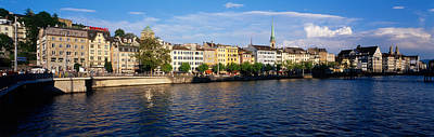 Limmat Photograph - Switzerland, Zurich, Limmat River by Panoramic Images