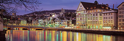 Limmat Photograph - Switzerland, Zurich, River Limmat, View by Panoramic Images