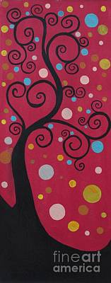 Painting - Swril Tree-1 by Rekha Artz