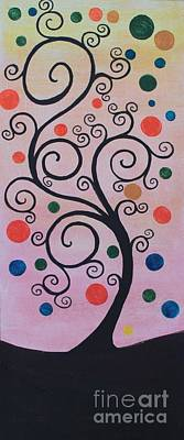 Painting - Swril Tree -2 by Rekha Artz