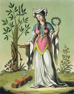 Thorn Tail Drawing - Sybil Of Delphi, No. 15 From Antique by Jacques Grasset de Saint-Sauveur