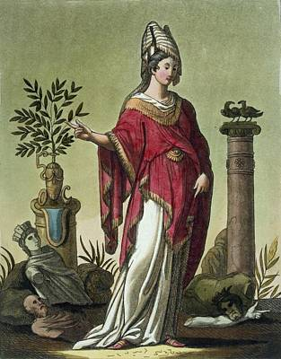 Religious Drawing - Sybil Of Eritrea With Her Insignia, 1796 by Jacques Grasset de Saint-Sauveur