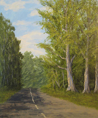 Sycamore Painting - Sycamore Drive by Matthew Hannum