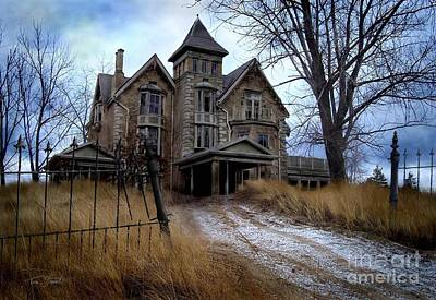 Creepy Digital Art - Sydenham Manor by Tom Straub