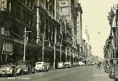 Paris Skyline Royalty-Free and Rights-Managed Images - Sydney Austalia Steet 1932 by Nicholas Cornhill