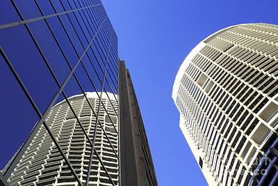 Sydney Australia Tall Buildings Skyscrapers Art Print by Colin and Linda McKie