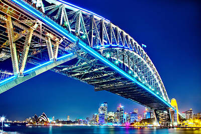 Vivid Festival Photograph - Sydney Blues by Az Jackson