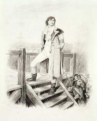 Sydney Carton, From Charles Dickens A Print by Hablot Knight Browne