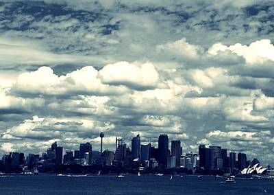 Sydney Skyline Photograph - Sydney - City In The Clouds by Dorota Grabowska-Kulka