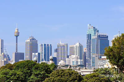 Photograph - Sydney City Skyline by David Hill