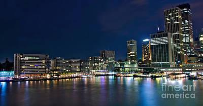 Sydney Skyline Photograph - Sydney Cityscape By Night by Kaye Menner
