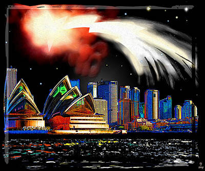 Sydney Skyline Digital Art - Sydney by Daniel Janda
