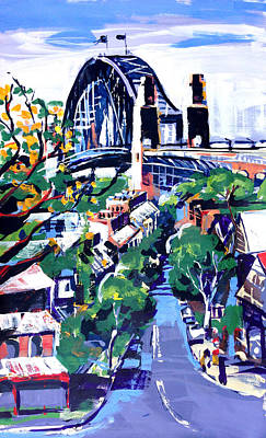 Sydney Harbour Bridge Painting - Sydney Daylight by Shirley  Peters