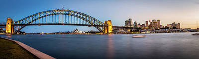 Photograph - Sydney Evening Skyline by Image By Mike Hankey