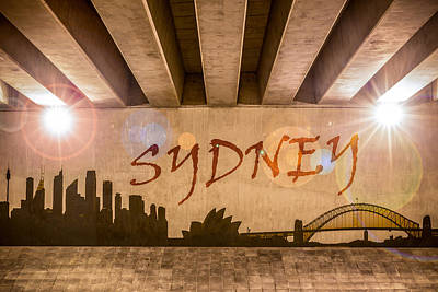 Sydney Skyline Photograph - Sydney Graffiti Skyline by Semmick Photo