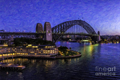 Sydney Harbour Painting - Sydney Harbor Landscape by Sheldon Kralstein