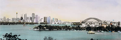 Hand-colored Photograph - Sydney Harbor, New South Wales, United by Panoramic Images