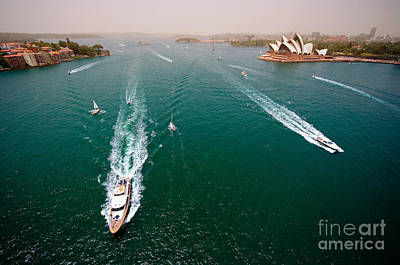 Photograph - Sydney Harbor by Ray Warren
