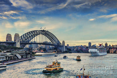 Sydney Harbour At Twilight Art Print by Colin and Linda McKie