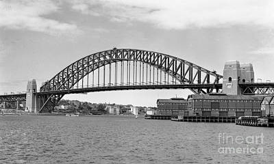 Paris Skyline Royalty-Free and Rights-Managed Images - Sydney Harbour Bridge 1932 by Nicholas Cornhill